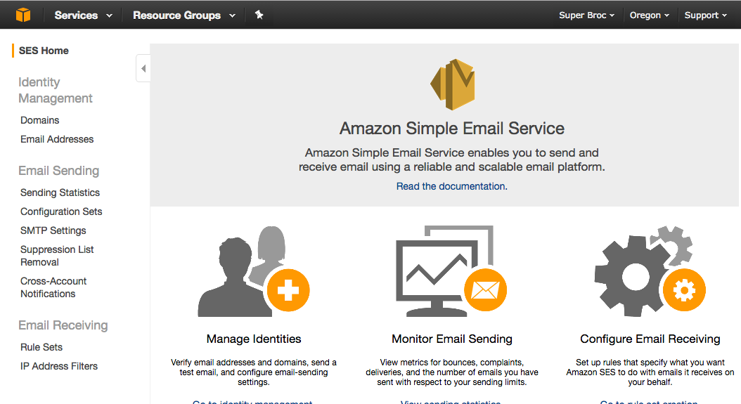 AWS Simple Email Service